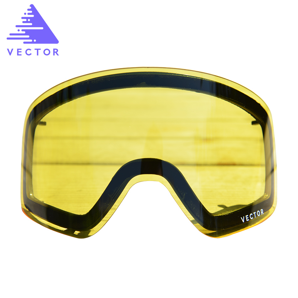 Only Lens For HXJ20011 Anti-fog UV400 Skiing Goggles Lens Glasses Weak Light Tint Weather Cloudy Brightening
