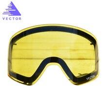 Somente lente para hxj20011 anti nevoeiro uv400 óculos de esqui lente óculos de luz fraca matiz tempo nublado brilho