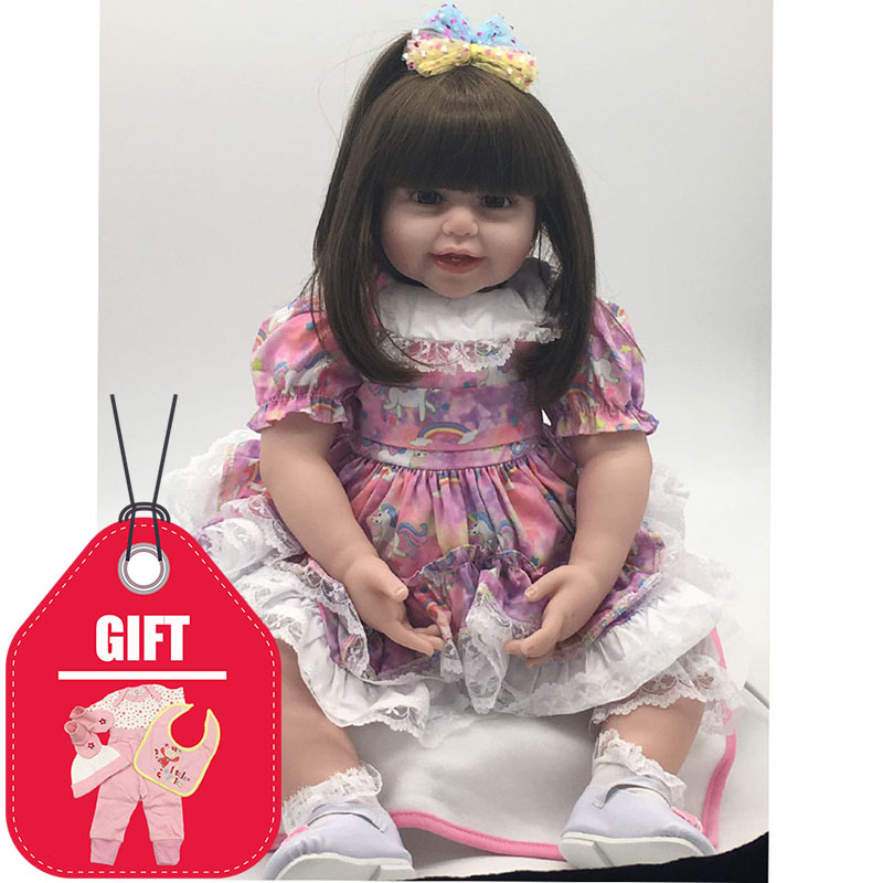 Lovely 60 cm Reborn Baby Girl Doll 24 inch Fantasy Princess DIY Toys Fashion Silicone Reborn Dolls PP Cotton Body Toddler GiftsLovely 60 cm Reborn Baby Girl Doll 24 inch Fantasy Princess DIY Toys Fashion Silicone Reborn Dolls PP Cotton Body Toddler Gifts