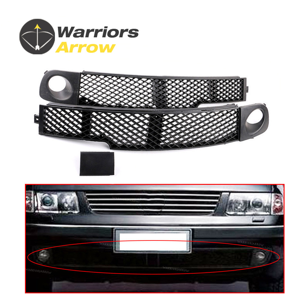 3BD853676 3BD853677 For VW 1998 1999 2000 Passat B5 X3 Set Front Fog Light Lamp Bumper Grille Left Middle Right Trim Cover Cap
