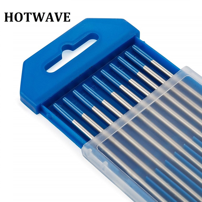 10pcs WL20 Ground Finish Blue Tips Tig Welding Rods Tungsten Electrodes