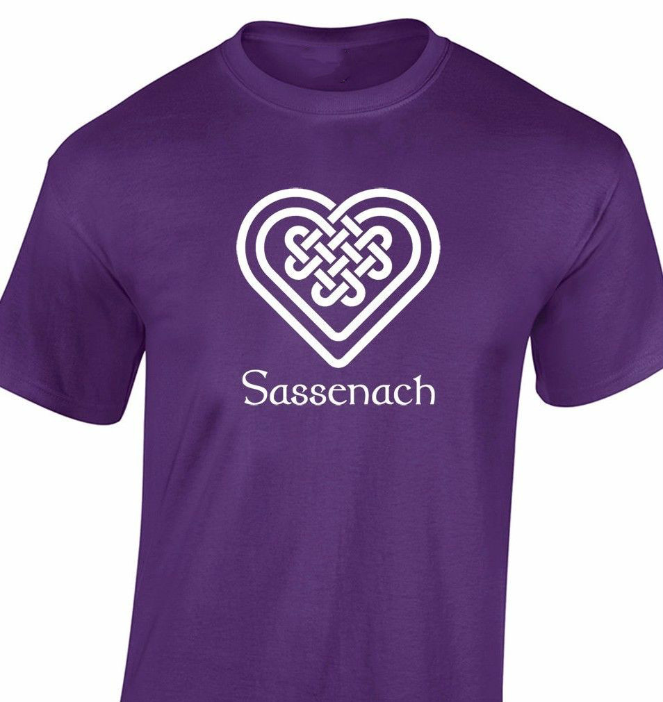 SASSENACH KNOTWORK HEART Outlander Fraser Claire Mens Ladies Cotton Tee Men T Shirt Print Cotton Short Sleeve T-shirt