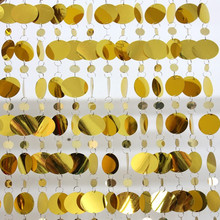 Gold PVC sequins curtain plastic partition curtain Festive party supplies indoor home Wedding decorations free shipping