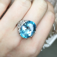 ZT классика для женщин 12ct украшения с топазом женские кольца стерлингового серебра 925 два белых или розовых цвета кольца для женщин обручаль