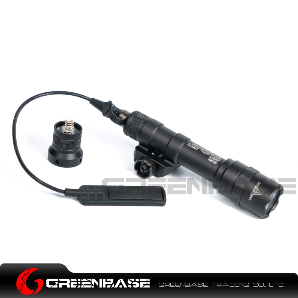 Greenbase SF M600B Mini Scout Light LED CREE Flashlight Weaponlight Tactical Gun Pistol Flashlight With Remote Tail Switch element sf m300 mini scout light black m300a led mini scout flashlight free shipping epacket hongkong post air mail