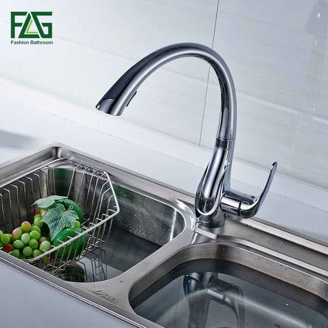 Spring Style White Kitchen Faucet Pull Out Brass Sprayer Swivel Spout Hot Cold Faucet Water Tap Sink Mixer,Free Shipping Israel
