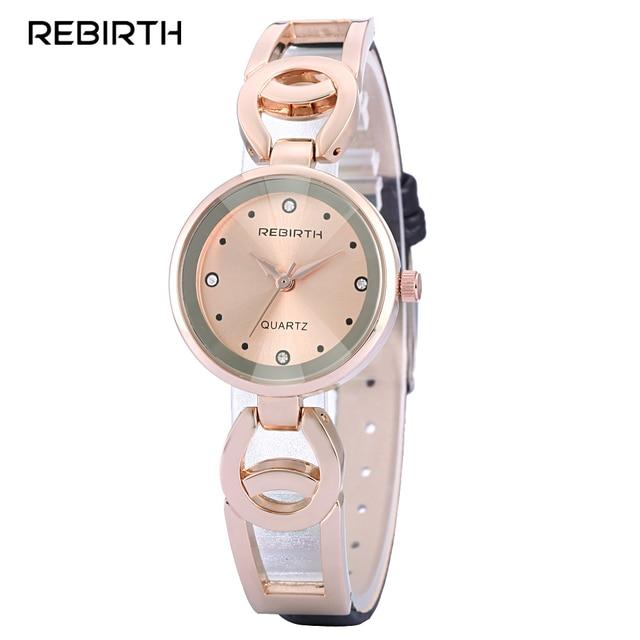 Luxus Marke Wiedergeburt Frauen Gold Uhren Stahl Band Armbanduhren