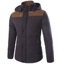 2017 Male Fashion Brand Parkas Winter Jacket Men Thicken Hooded Outerwear Warm Coat Solid Down Parkas Windproof Black 3XL