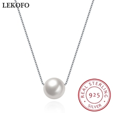 2017 Fashion Natural Pearl 925 Sterling Silver Necklace Pendant Girl Birthday Present Women Silver Jewelry 2017 New Arrivals