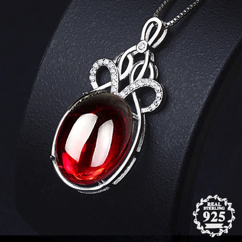 NOT FAKE S925 Sterling Silver Myanmar Rubellite Pedants Artisan  Big Gemstone For necklace  Retro Chalcedony RedNOT FAKE S925 Sterling Silver Myanmar Rubellite Pedants Artisan  Big Gemstone For necklace  Retro Chalcedony Red