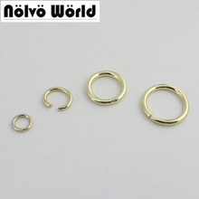500 sztuk 6mm8mm10mm 5 kolorów nie spawane okrągłe pierścienie stopu metalu pierscień O dla torby pasy pasy podłączyć akcesoria sprzętowe tanie tanio ZH88 Ze stopu cynku nolvo world 0 03 D ring 6mm 8mm 10mm