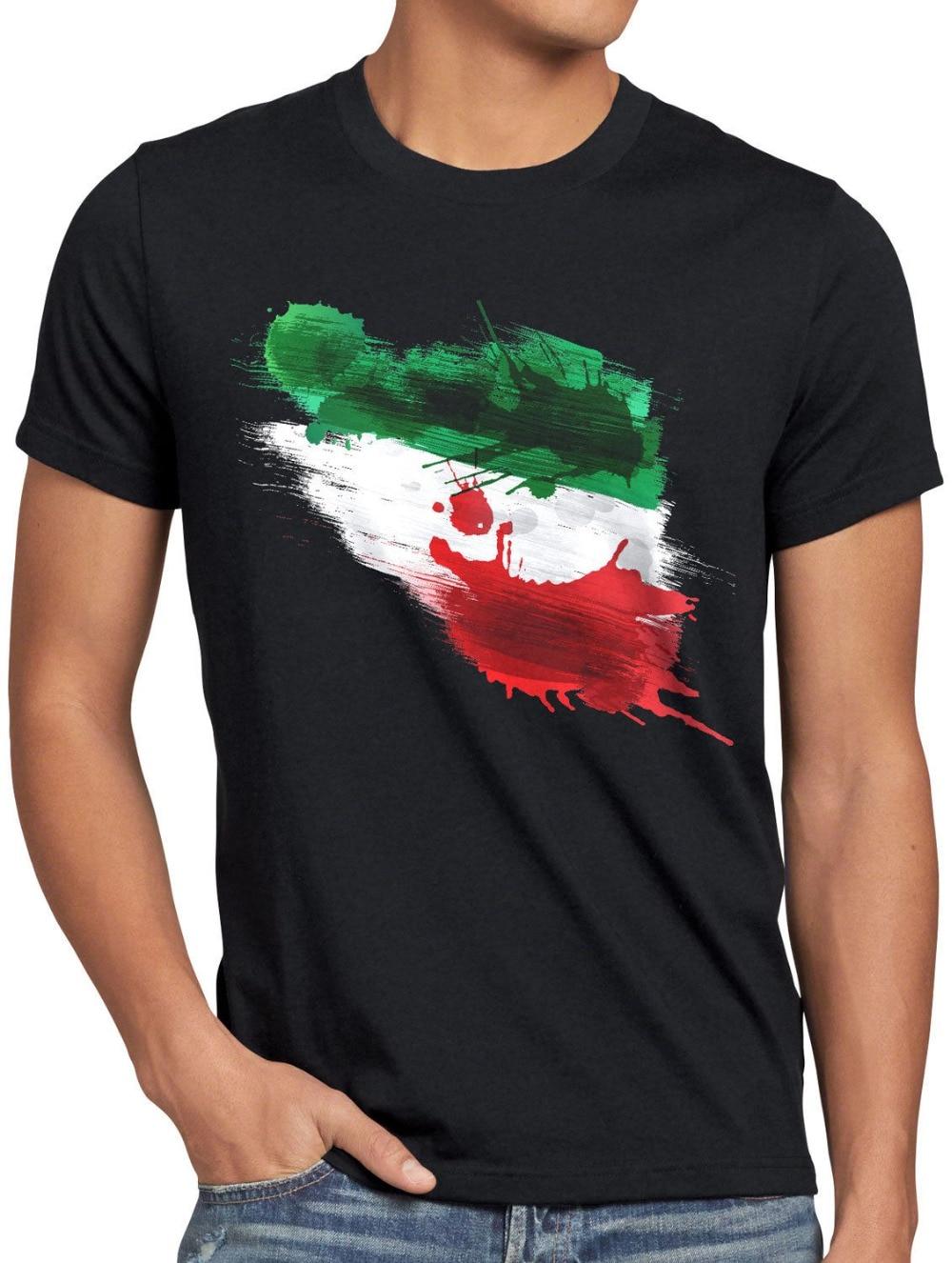 Nueva camiseta Iran de moda para hombre de 2019, Camiseta deportiva Herren Fuball WM EM Fahne nacional-Bandera ventilador-impresión de Artikel camisa