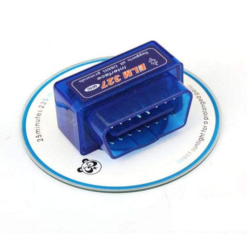 Prix pour MINI ELM327 Bluetooth OBD2 V2.1 bleu couleur de numérisation super mini elm 327 outil d'analyse