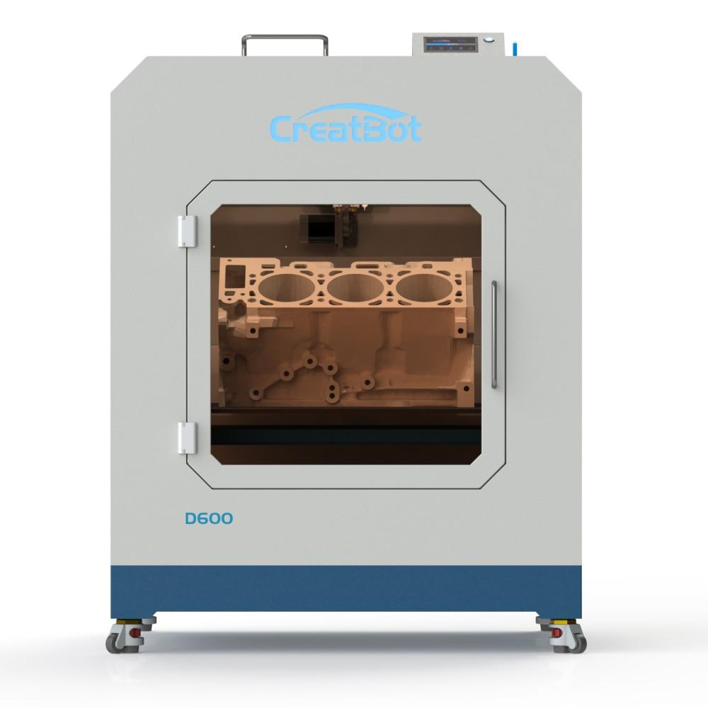 Индустриален 3D принтер Creatbot D600 Двоен екструдер 600 * 600 * 600 мм Метален принтер с голям размер 3.0 мм ABS PLA нишки