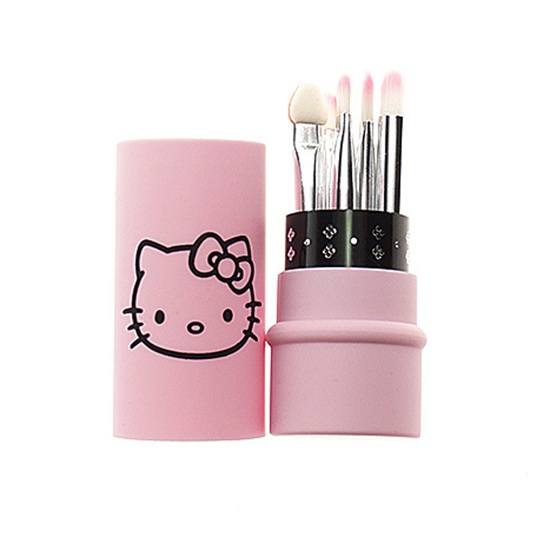 a6ca30548 Hello Kitty 5 pcs eyes makeup brushes set small make up tool portable mini kit  brush