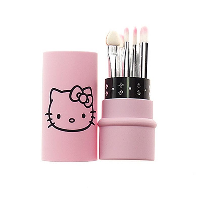 2838b7d97 Hello Kitty 5 pcs eyes makeup brushes set small make up tool portable mini  kit brush