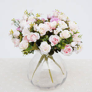 Top 10 small silk flower arrangements brands jarown artificial roses silk flowers home party decoration mightylinksfo