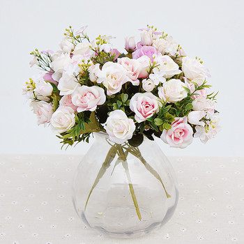 Jarown Künstliche Kleine Rosen Blume Bouquet Dekorative Seide Blumen