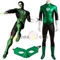 2017 Superman cosplay traje adulto de la Linterna Verde cosplay disfraces de Halloween para hombres Green Lantern mono atractivo