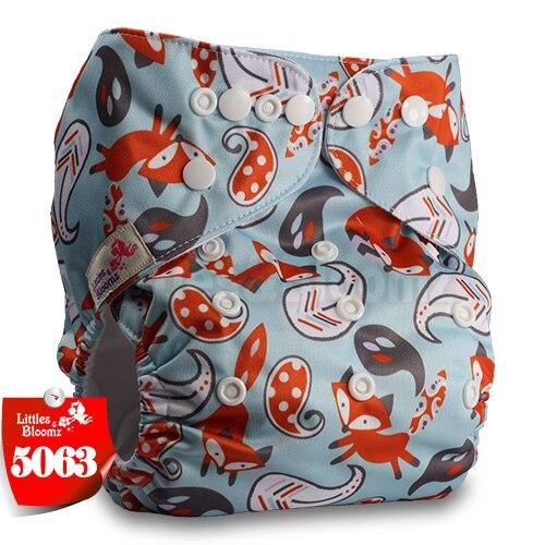 Littles& Bloomz детские моющиеся многоразовые подгузники из настоящей ткани с карманом для подгузников, чехлы для подгузников, костюмы для новорожденных и горшков, один размер, вставки для подгузников - Цвет: 5063
