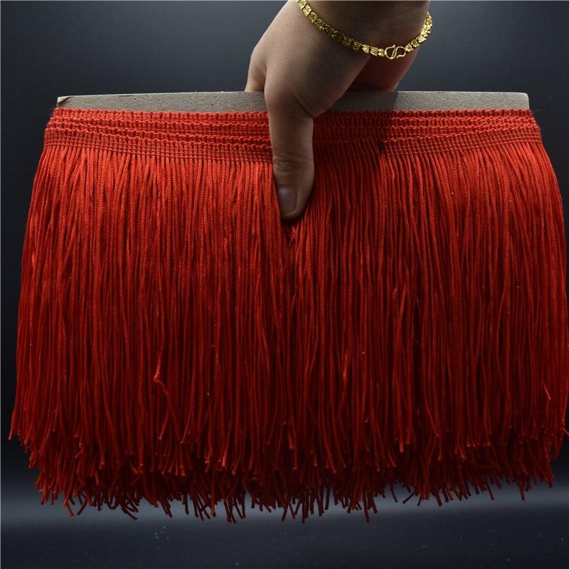 10Yard / Lot 15cm pitkä pitsi reunus koriste polyesteri tupsu reunus - Taide, käsityöt ja ompelu - Valokuva 2