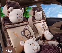 5 чехолы сиденья для 1 компл. четыре сезона для девочек автомобиля чехол для сиденья Подушка 2016 новое поступление женские Мультяшные автомоб