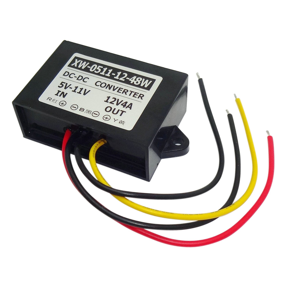 DC 5V 6V 7V 8V 9V 10V 11V Step Up To 12V 24W Car Power DC-DC Converter Regulator