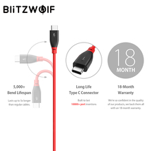 BlitzWolf USB Type-C Fast Charging Cable For Smartphones