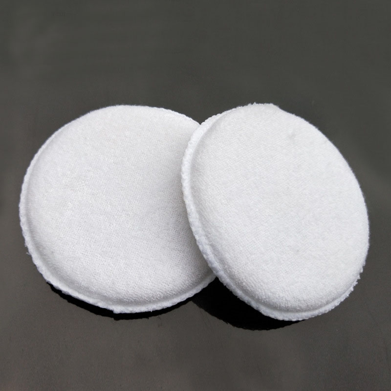 Image 3 - 3PCS soft microfiber polishing sponge car wash care car waxing cotton white applicator pad car detail-in Sponges, Cloths & Brushes from Automobiles & Motorcycles