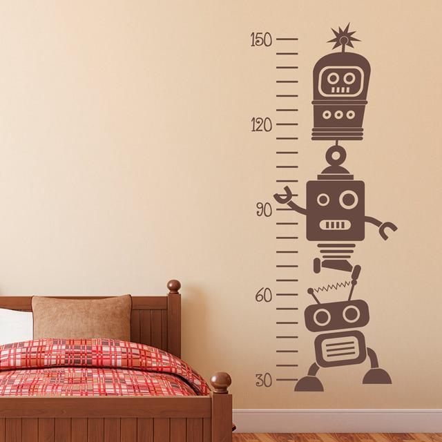 Removable Robot Wachstum Chart Vinyl Wandtattoos Kinderzimmer Kunst ...