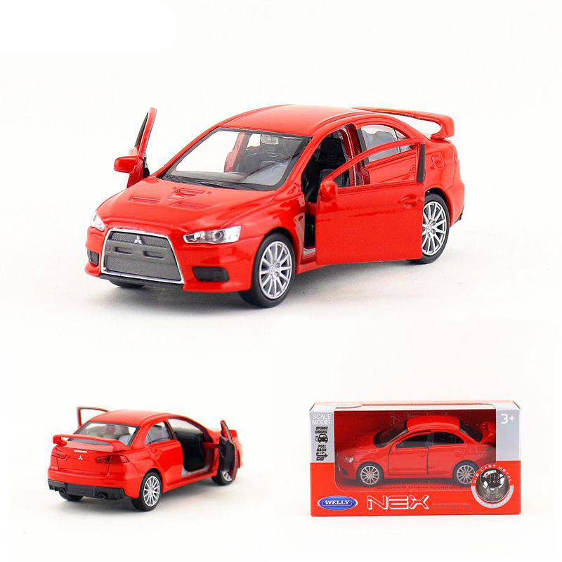 High Simulation Model 1:36 Mitsubishi Lancer 10 Alloy Pull Back Toy Car Model For Kids Toys Gifts Free Shipping