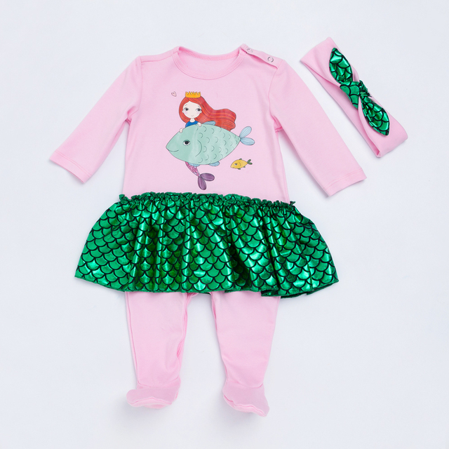 0d2e8b8e3c9 YK Loving Print Newborn Baby Romper Autumn Spring Winter Warm Girls Clothing  New Arrival Light