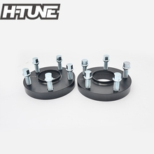 H-TUNE A Pair Forged Aluminum Black 15mm Thick 5x130 71.6CB Hub Centric Wheel Spacers fit for 5 Lug  цена в Москве и Питере
