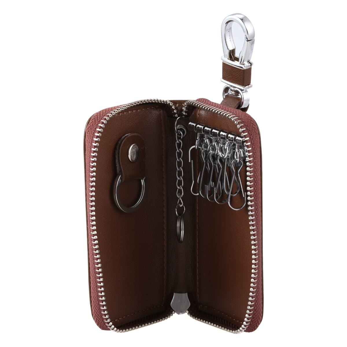 15505b5252e5f Aliexpress.com   Buy Men Leather Zip Around 6 Hook Key Case Car Key Holder  Wallet from Reliable Key Wallets suppliers on Life Comfortable Shoe+Useful  Bag ...