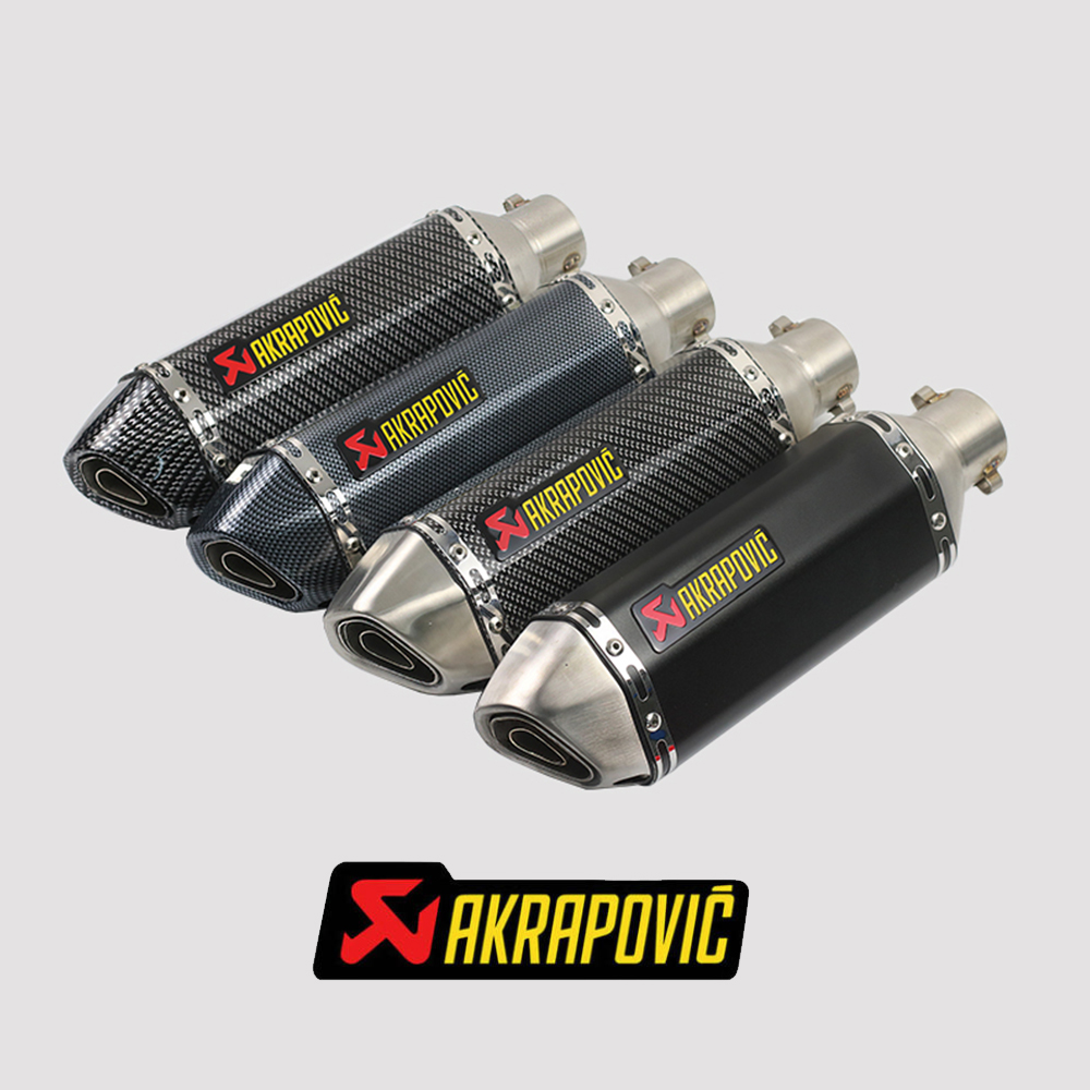 akrapovic exhaust motorcycle Exhaust escape muffler For honda forza 300 2018 kawasaki z750 yamaha tdm 900 suzuki bandit 1200