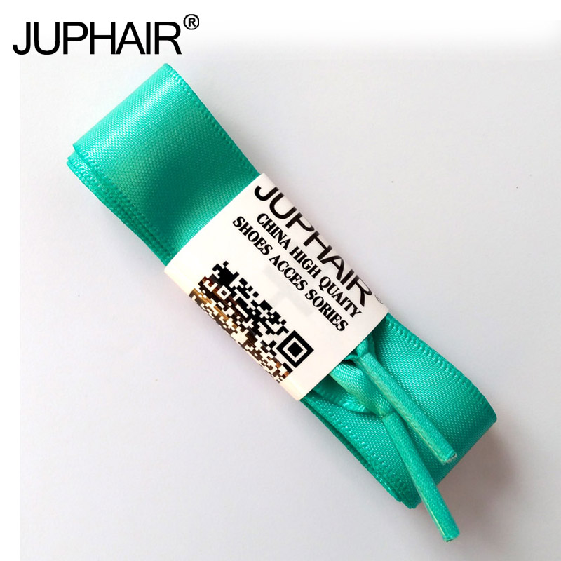 JUP 1-12 Pairs Light Green Girl Fashion Colorful Princess Colorful Lady Shoelace Flat Silk Ribbon Laces Lace Sneaker Sport Shoes weiou fashion flat silk ribbon shoelaces princess sneaker colorful sport shoes laces with 2cm width metal aglets drop shipping