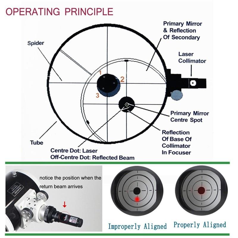 para newtonian telescópio astronômico colimação (sem bateria)