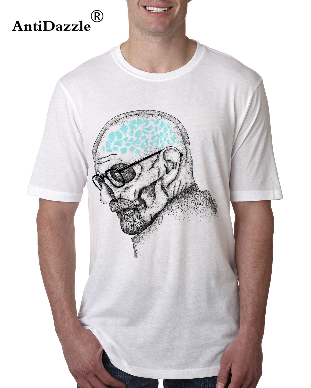 Antidazzle Fashion Asian Size heisenberg Skulls Geometric Casual Men's T shirt Breaking Bad Mr White Male T-shirt Tees Tops