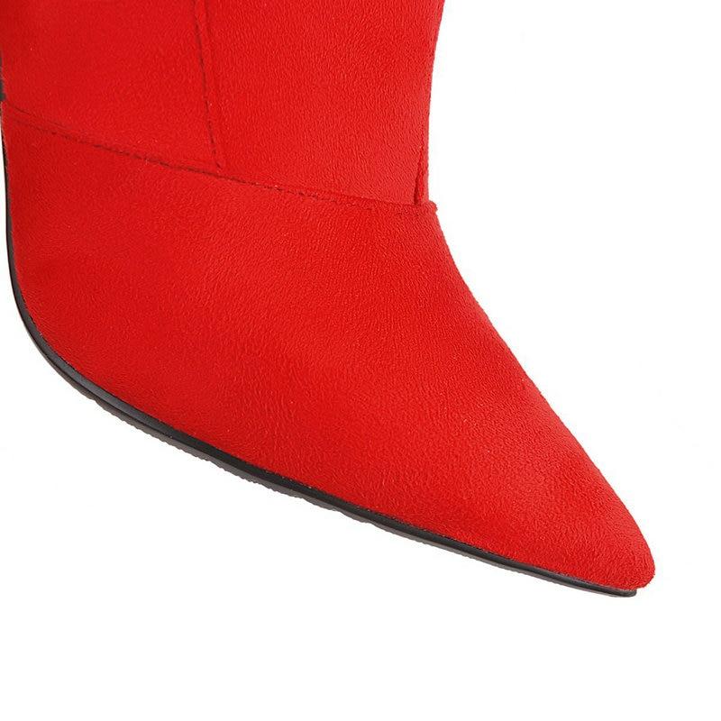 Genou Robe Sexy Femmes 42 43 Chaussures Noir Automne Dames Femme rouge Partie Talons Haute leopard Bottes Grande Léopard Taille Nouveau Printemps PwpyAt1qA