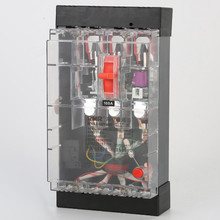 230-400v DZ15LE-100/490 Three phase four wire 25-100A moulded case circuit breaker overload protector earth leakage protector
