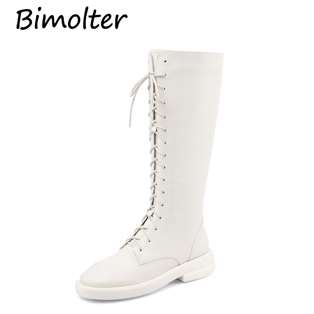 Bimolter genuine leather stretch long boots med heel sewing Lace up women keep warm preppy style over-the-knee boots Zip PC096Bimolter genuine leather stretch long boots med heel sewing Lace up women keep warm preppy style over-the-knee boots Zip PC096