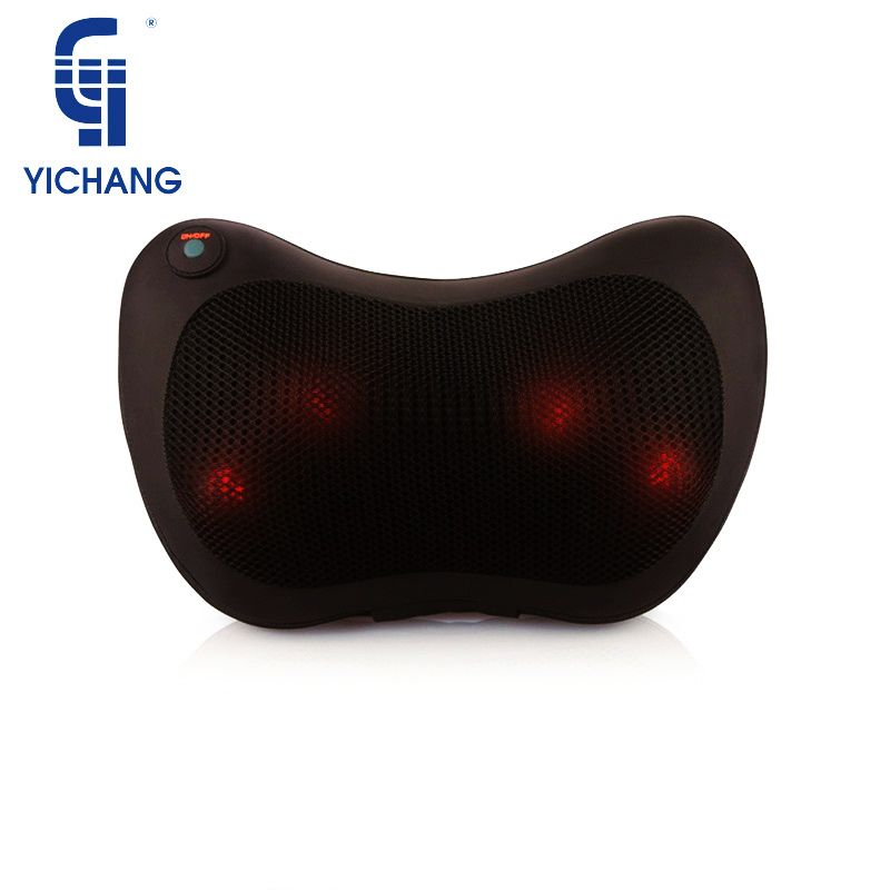 YICHANG Heated Acupuncture Shiatsu Body Massager Butterfly 3D Vibrator Neck Massage Pillow For Health&Relaxation Care 5pcs acupuncture rings health care body massager finger massage ring