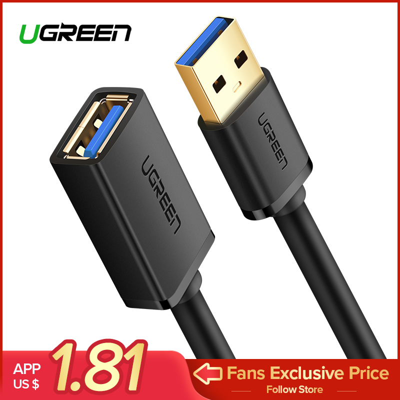 Ugreen Super High Speed M/F Male To Female USB 3.0 Extension Extender Cable Data Sync Charging Transfer Charger Cabo 0.5m 1m 2m
