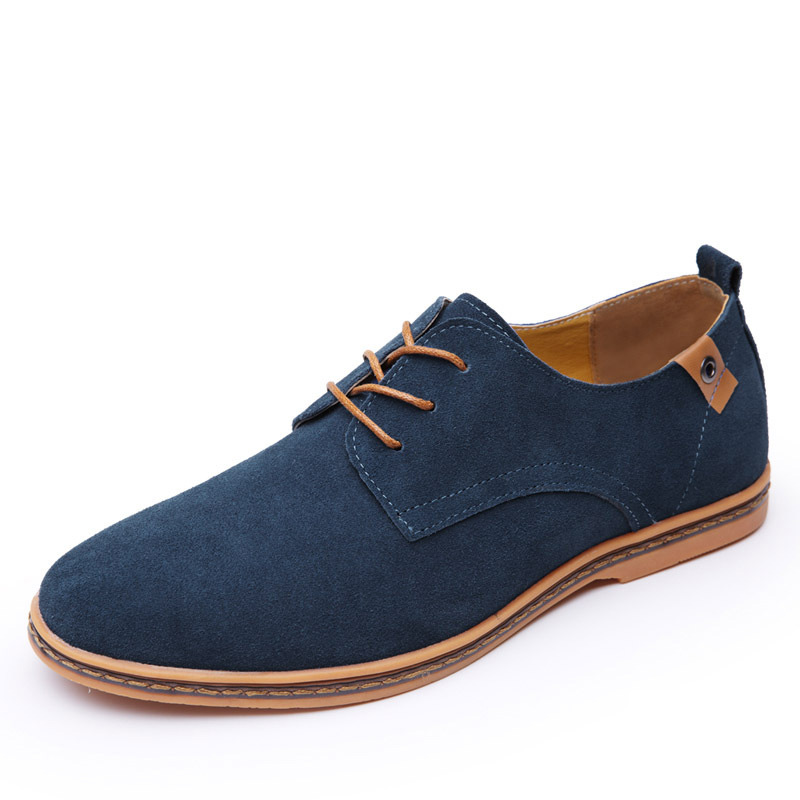 Fashion atas sepatu kasual pria 2018 Flat musim panas baru renda up - Sepatu Pria - Foto 5