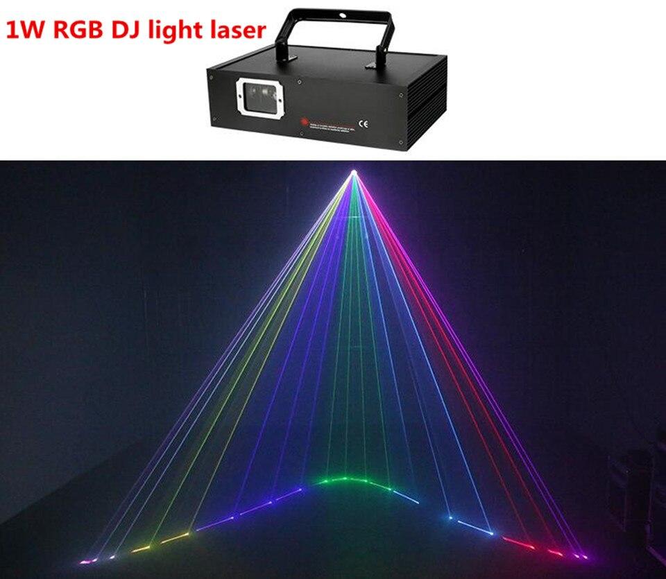 1000 МВт полноцветного анимации проектор 1 Вт DJ light лазерный rgb лазерный dj света dmx луч света разных цветов
