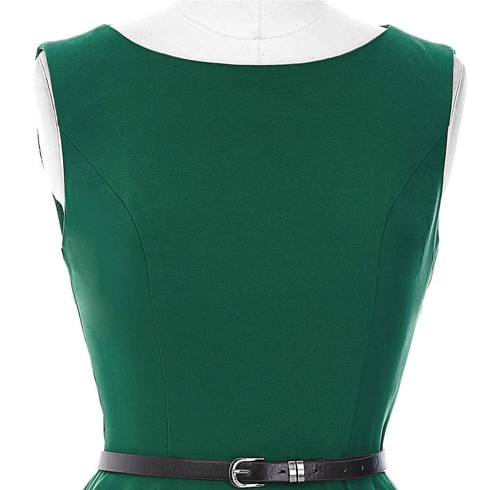 Belle Poque летнее платье 2018 женское черное красное зеленое повседневное плюс размер туника 50 s 60 s Ретро Винтаж в стиле кантри платья для вечеринок