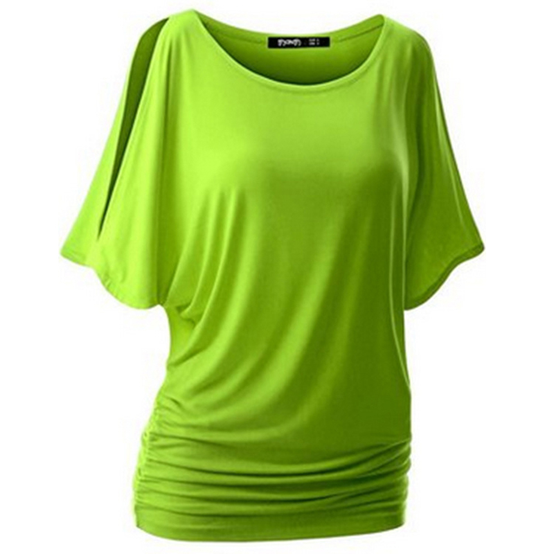 HTB1KsSAQXXXXXahaFXXq6xXFXXXb - T Shirt Women Batwing Sleeve Shirts Top Solid O-Neck Cotton