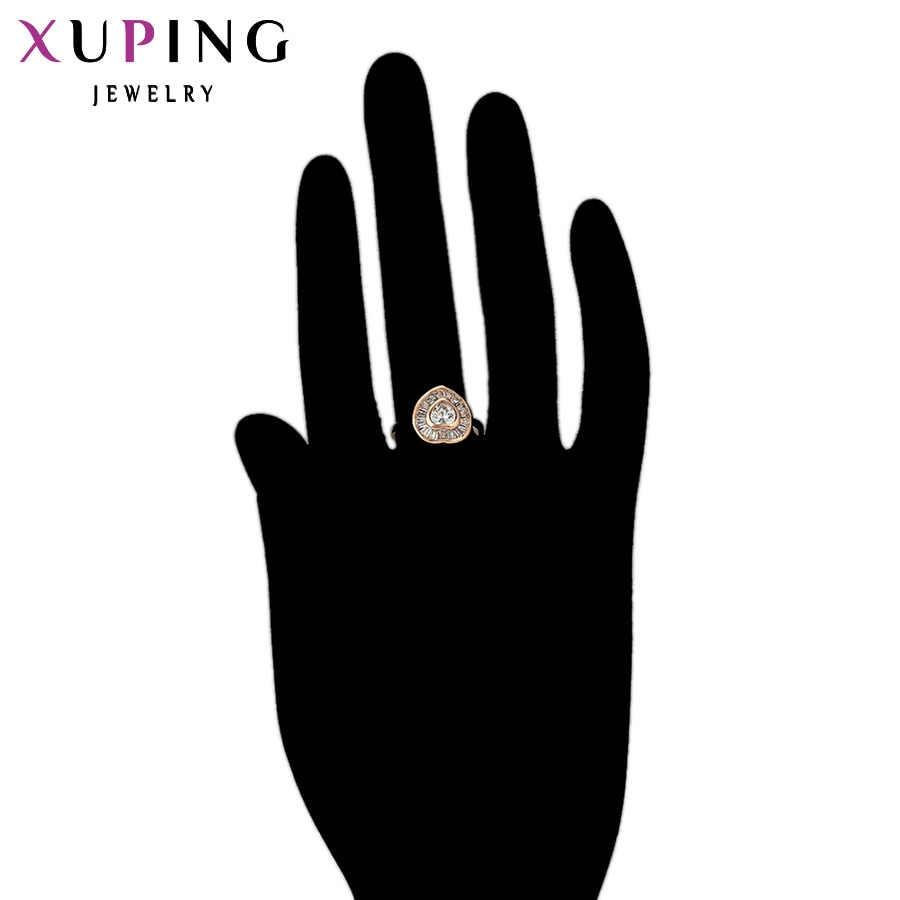 Xuping Fashion Desain Khusus Cincin Wanita Kualitas Tinggi Warna Emas Berlapis Perhiasan Pesona Hadiah Natal 11785