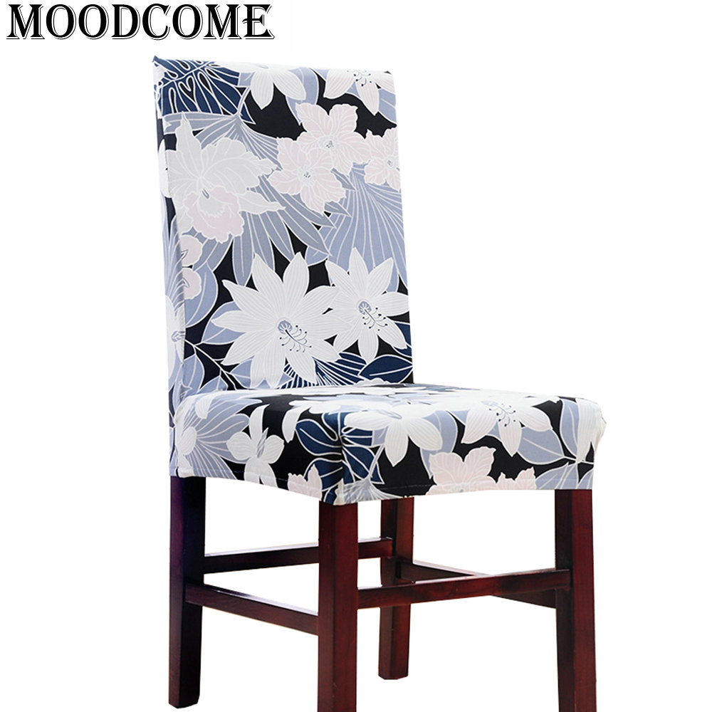 flower spandex chair cover new arrival elastic cheap europe 2017 home decorative dining room chair cover