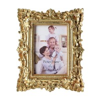 Gift Garden 4x6 Stunning Gold Vintage Picture Frame In Hand Painted
